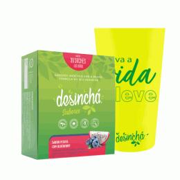 Combo Desinchá Sabores (30 sachês) + Brinde Copo Cristal Desinchá