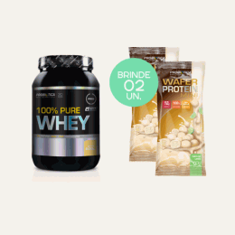 100% Pure Whey (900g) + Mini Wafer Protein (2 unidades - 50g)